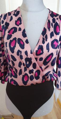 Bodysuit Blouse black-violet