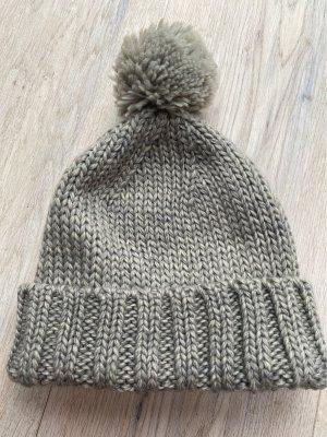 C&A Sombrero de punto gris Lana