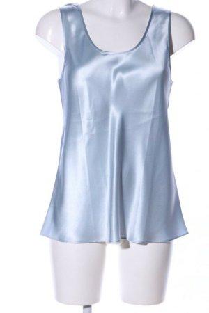 Börner hübsche Bluse aus 100% Seide in hellblau, Grösse 38