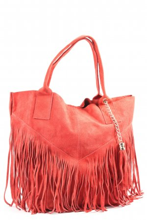 Börse in Pelle Fringed Bag red casual look