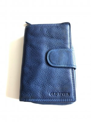 Ohne Wallet blue leather