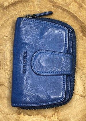 Börse Leder soft inkblau Vintage Look 13,5x9 cm Portemonnaie
