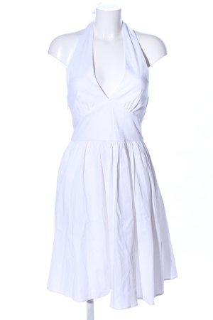 Boflyyang Vestido de cuello Halter blanco look casual
