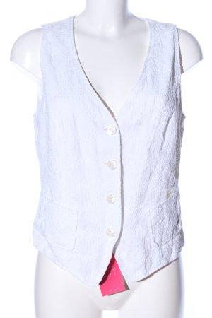 Bogner Gilet de costume blanc imprimé allover style d'affaires