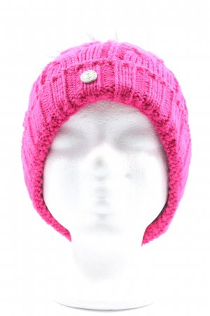 Bogner Beanie pink cable stitch casual look