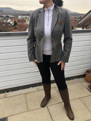 Bogner Blazer in lana grigio-marrone