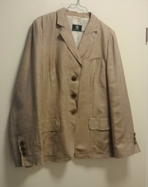 Bogner Short Blazer brown-cream linen