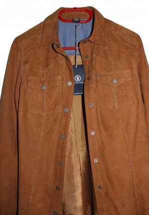 Bogner Jeans Leather Blouse cognac-coloured