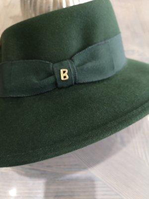 Bogner Chapeau en laine vert forêt-gris anthracite