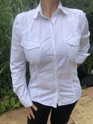 Bogner Fire + Ice Bluzka z długim rękawem biały-srebrny Bawełna