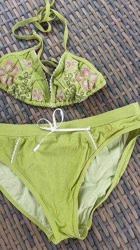 Bogner Fire + Ice Bikini rosa neón-verde pradera poliamida