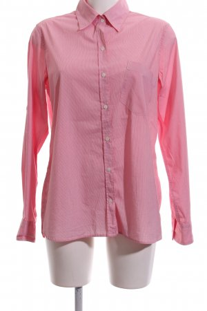Bogner Fire + Ice Blouse-chemisier rose motif rayé style d'affaires