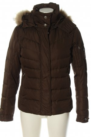 Bogner Fire + Ice Kurtka z kapturem brązowy Pikowany wzór W stylu casual