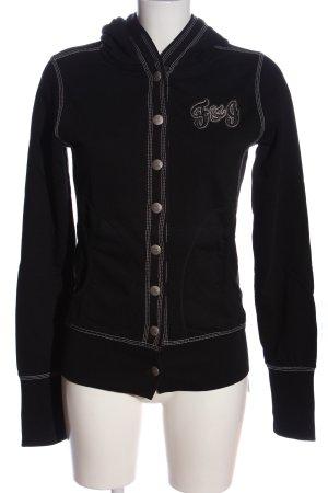 Bogner Fire + Ice Bluza z kapturem czarny-biały W stylu casual