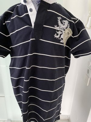 Bogner Fire + Ice Polo shirt donkerblauw-wit Katoen
