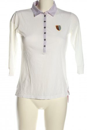 Bogner Fire + Ice Koszulka polo biały-turkusowy Wzór w paski W stylu casual