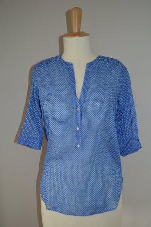 BOGNER FIRE + ICE Sommer Tunika Bluse indigo blau gemuster Gr. 34 / XS