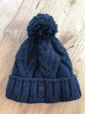 Bogner Fire + Ice Cappello a maglia blu scuro-blu