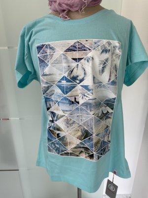 Bogner Fire + Ice Shirt met print turkoois Katoen