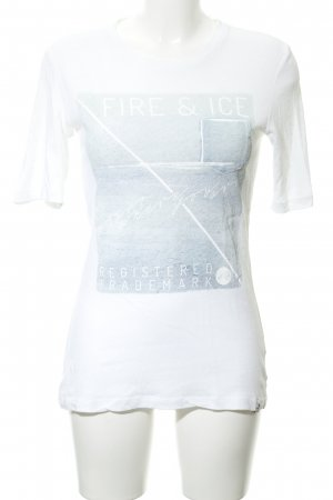 Bogner Fire + Ice T-Shirt weiß-hellblau Schriftzug gedruckt Casual-Look