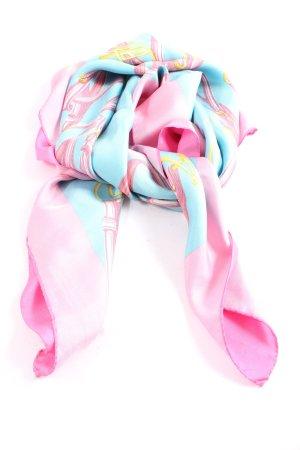 Bogner Halsdoek blauw-roze abstract patroon