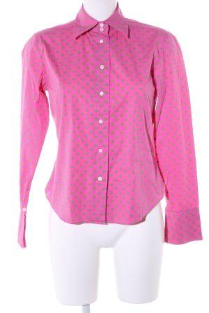 Bogner Hemd-Bluse pink-grün Allover-Druck Casual-Look