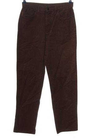 Bogner Pantalón de cintura alta marrón look casual