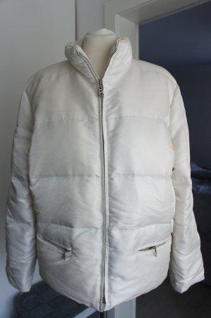 Bogner Jacke Größe 40 Damen Perlen weiß Daunenjacke Winterjacke