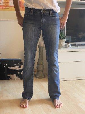Bogner Jeans Low Rise Jeans steel blue-blue cotton