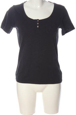 Bogner Jeans Basic Shirt black embroidered lettering casual look