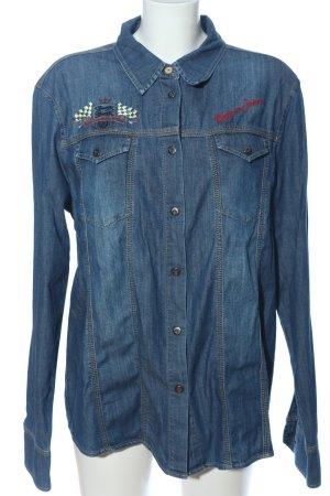 Bogner Jeans Jeanshemd blau Casual-Look
