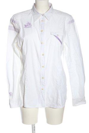 Bogner Jeans Camicia a maniche lunghe bianco-lilla stile casual