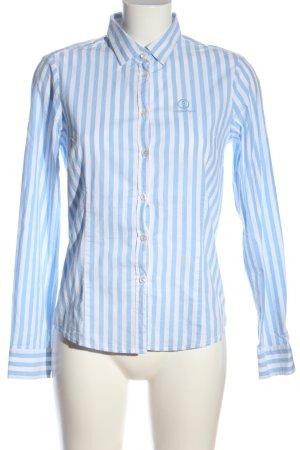 Bogner Jeans Camicia a maniche lunghe blu-bianco stampa integrale stile casual