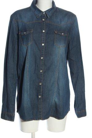 Bogner Jeans Langarmhemd blau Casual-Look