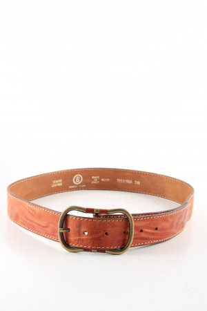 Bogner Jeans Cinturón de cuero marrón estilo «business»