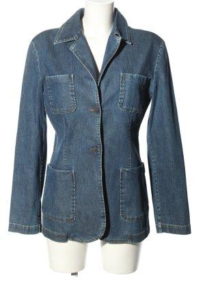 Bogner Jeans Lange blazer blauw casual uitstraling
