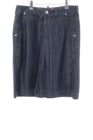 Bogner Jeans Midi-rok blauw casual uitstraling