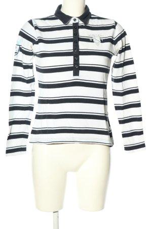 Bogner Jeans Polo bianco-nero motivo a righe stile casual