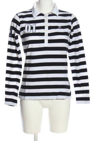 Bogner Jeans Polo shirt zwart-wit gedrukte letters casual uitstraling