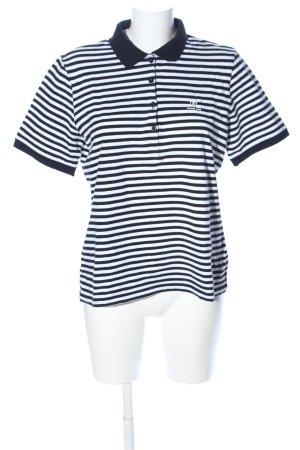 Bogner Jeans Polo nero-bianco motivo a righe stile casual