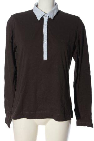 Bogner Jeans Polo shirt bruin casual uitstraling