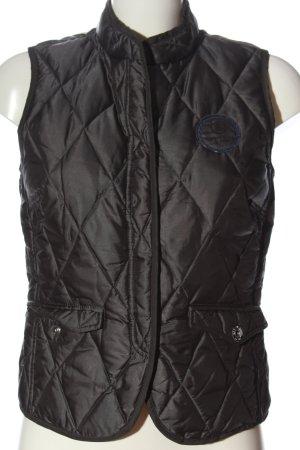 Bogner Jeans Gilet matelassé noir motif de courtepointe style décontracté