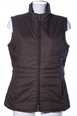 Bogner Jeans Quilted Gilet brown quilting pattern casual look
