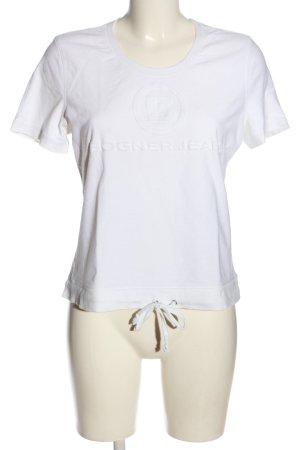 Bogner Jeans T-shirt wit gedrukte letters casual uitstraling