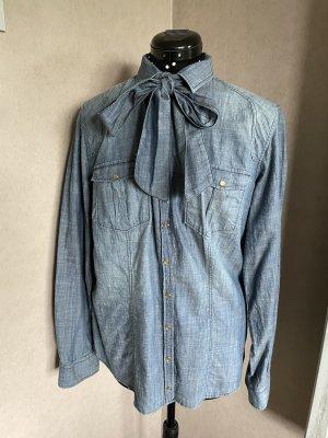 Bogner Jeans Tie-neck Blouse steel blue
