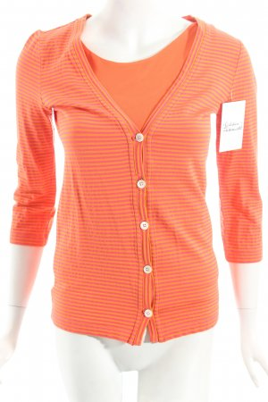 Bogner Twin Set tipo suéter orange-magenta striped pattern classic style