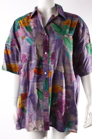 Bogner Kurzarm-Hemd lila-gemustert