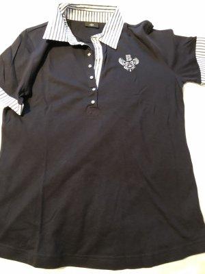 Bogner Camiseta tipo polo azul oscuro-blanco