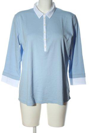 Bogner Langarm-Bluse blau-weiß Casual-Look