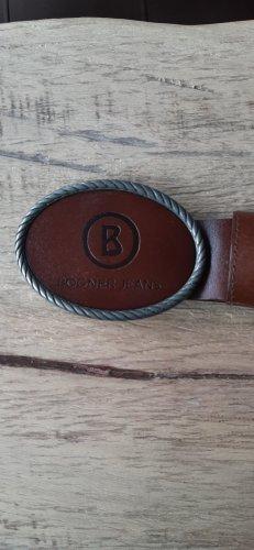 Bogner Cinturón de cuero marrón-marrón oscuro